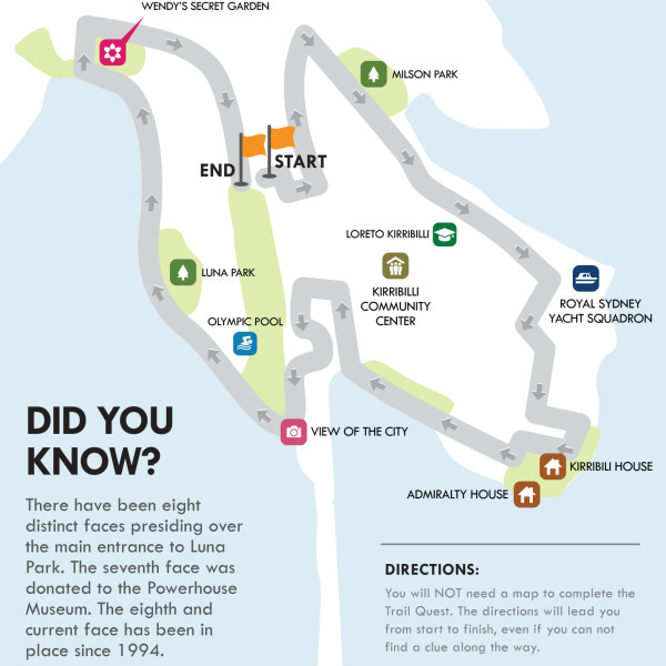Kirribilli walking map