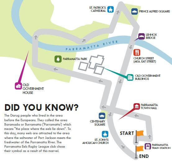 Parramatta Walking Map
