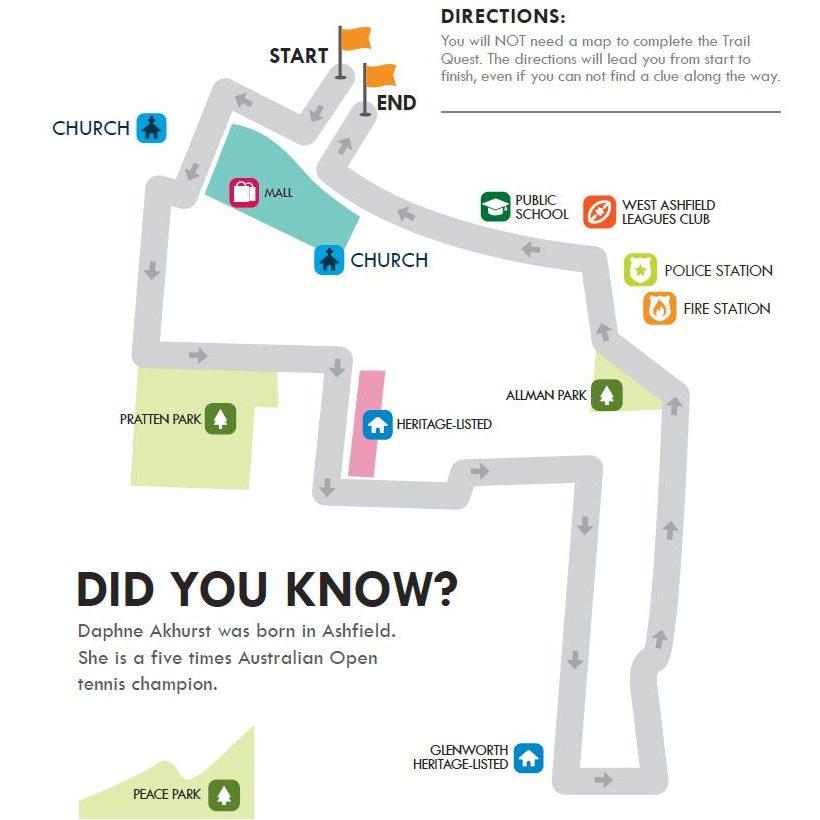 Ashfield Walking Map